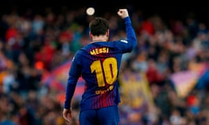 Lionel Messi scored in the 26th minute against Atlético in a match that could decide the title.