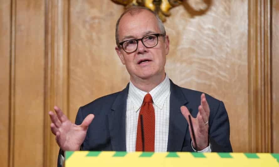Sage member Sir Patrick Vallance at an official coronavirus briefing at No 10.