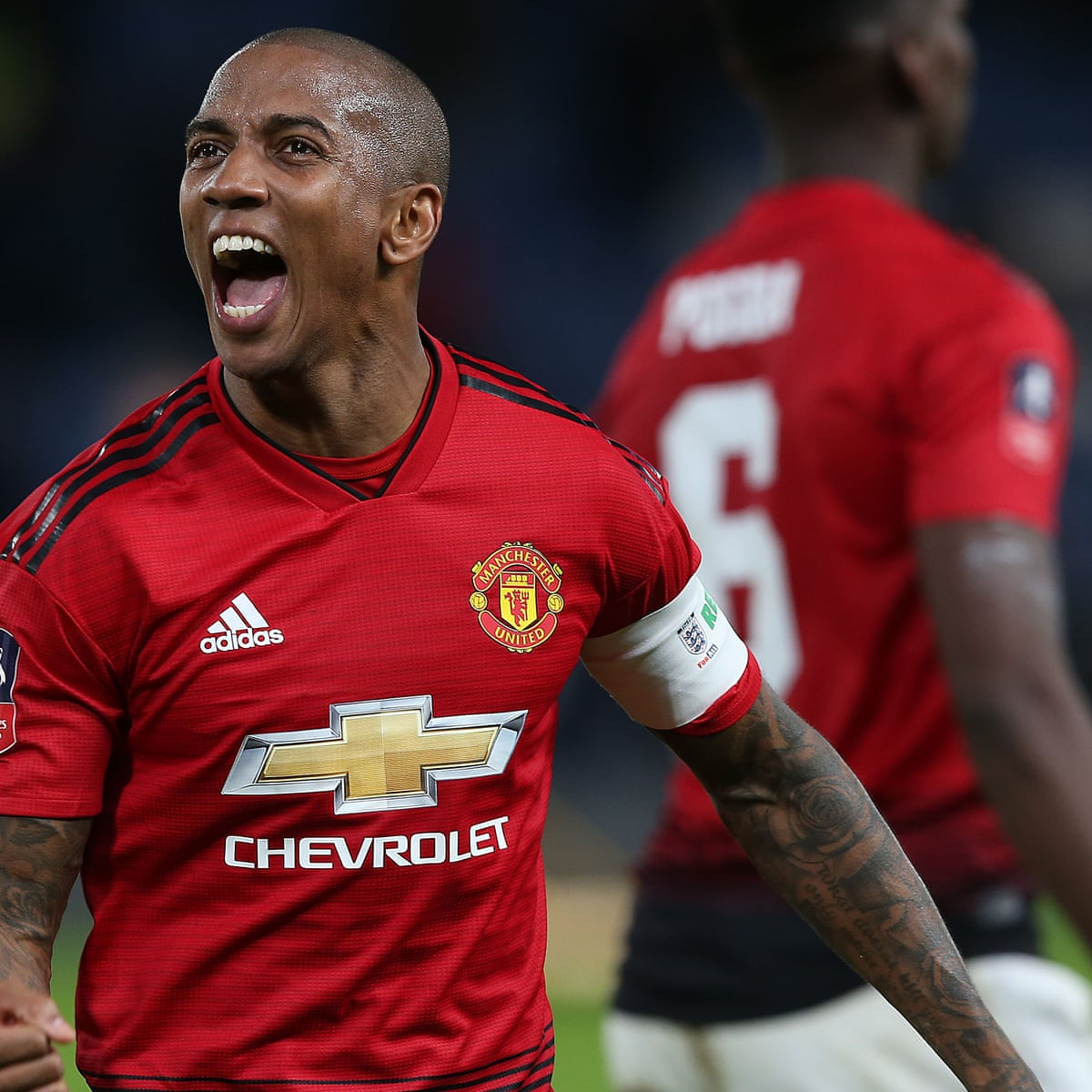Manchester United Take Massive Belief Into Liverpool Game Says Ashley Young Manchester United The Guardian