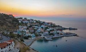 Armenistis village and beach, on Ikaria's north coast.