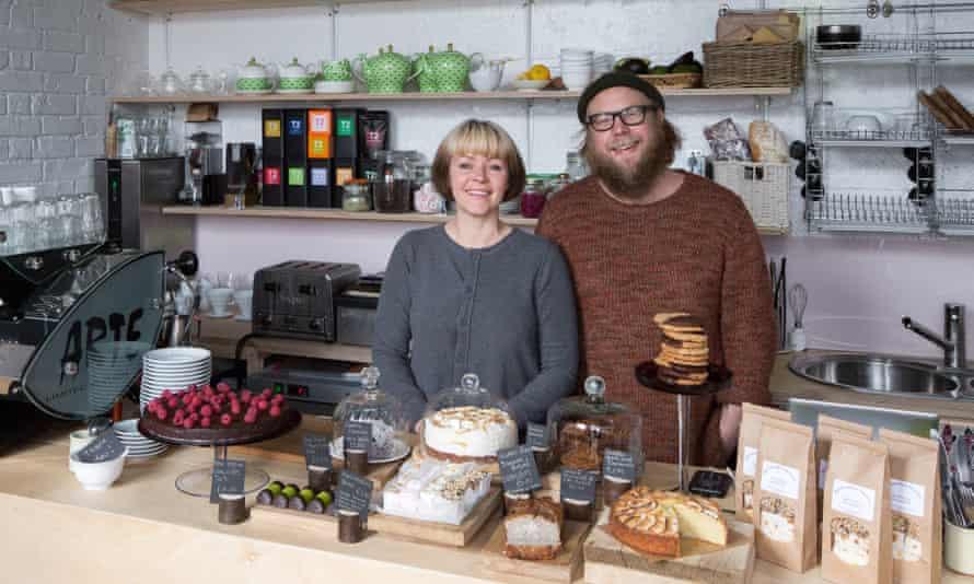 Carey Karlberg founder of Mala Kaffe in Margate, with her husband Johan.