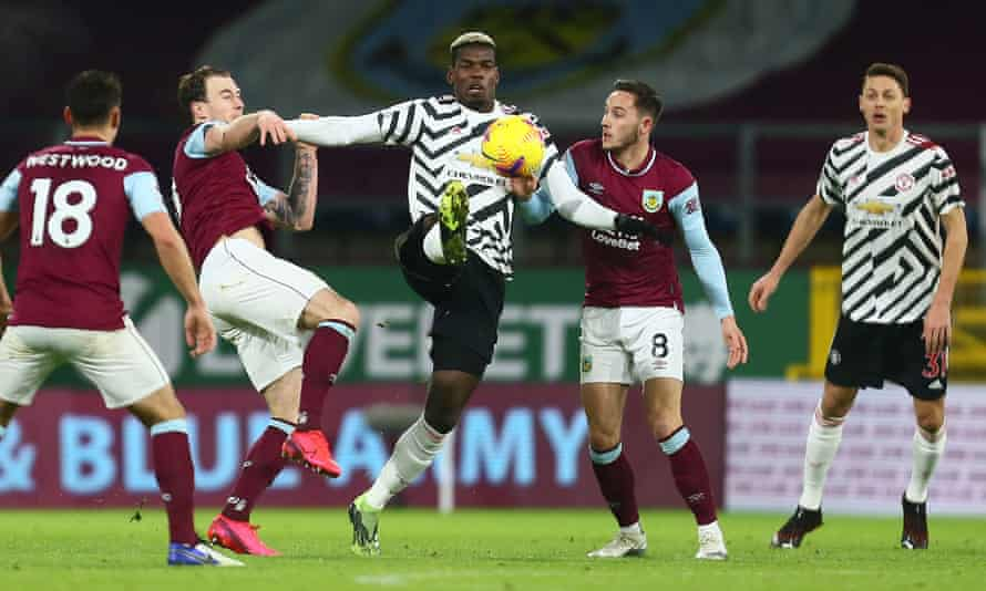 Paul Pogba impressed in Manchester United's victory over Burnley.
