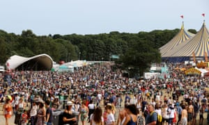 A general view of the Latitude festival site
