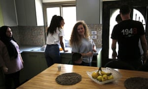 Ahed Tamimi, 17, at her home in Nabi Saleh on Monday.