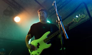 Kevin Garcia on stage with Grandaddy in Edinburgh this March.