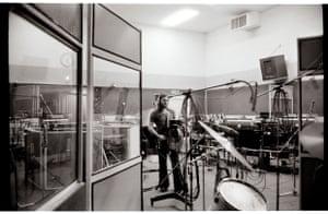 David Gilmour playing the black Strat, c 1973