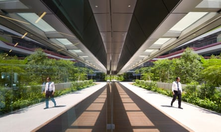 A canopied walkway at the Singapore University of Technology and Design.