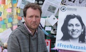 Richard Ratcliffe held a hunger strike outside the Iranian embassy in London in solidarity with his wife.
