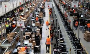 An Amazon warehouse in Dortmund.