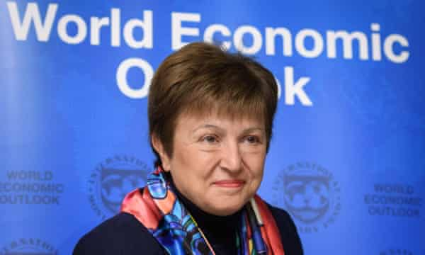 Kristalina Georgieva at a world economic outlook meeting in January 2020.