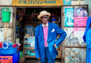 Portrait of Henry Chiyumba, 91. 'I met Henry on a recent trip to Uganda to photograph for a medical NGO. He was just leaving the hospital and was dressed with such style that I felt compelled to chat to him and ask to take his portrait. He told me he was a professional football player when he was young.'