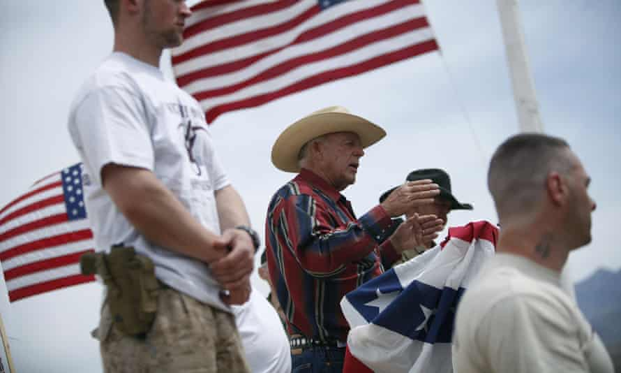 Rancher Cliven Bundy, who was released from jail Monday, pictured near Bunkerville, Nevada.