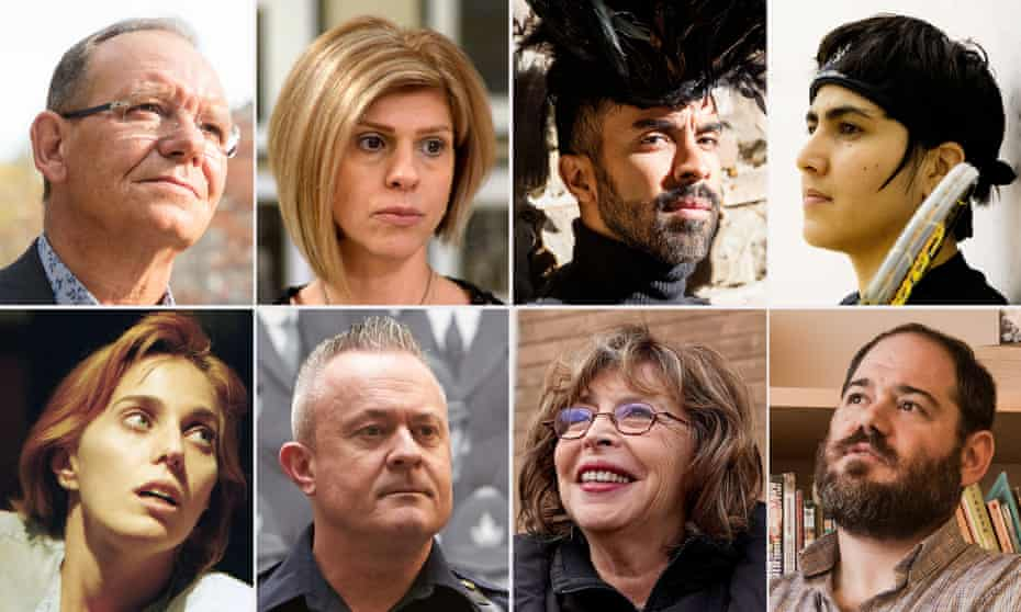 Canadian emigres Graeme Dargo, Tima Kurdi, Bruno Capinan, Maria Toorpakai, Uriel Jelin, Vania Jimenez, Garry Woods and Meg Remy.
