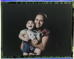 Rozilene Ferreira and her one year old son, Arthur Conceição