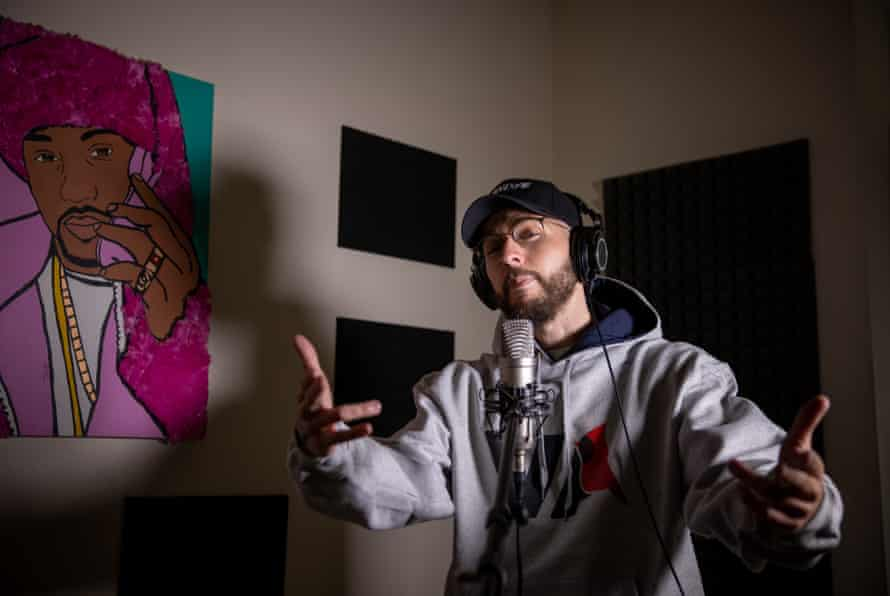 William Frederick Keck III, also known as rapper OG ILLA, recording in Richmond, Virginia, last month.