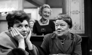 Coronation Street, 1961, with from left: Pat Phoenix as Elsie Tanner, Doris Speed as the Rovers Return landlady Annie Walker and Violet Carson as Ena Sharples.