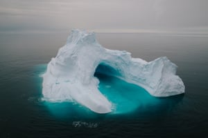 Melting and collapses have taken turns shaping the cavern through this iceberg