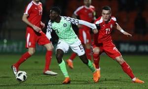 Wilfred Ndidi of Nigeria versus Serbia