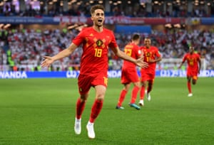 Januzaj celebrates. That strike has buried all the pre-match talk of Belgium wanting to finish second.
