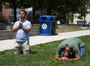 Dayton, Ohio: People attend a prayer vigil for the victims of the mass shooting