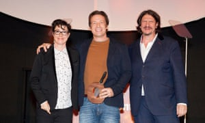 Best Food Personality - Jamie Oliver with presenters Sue Perkins and Jay Rayner