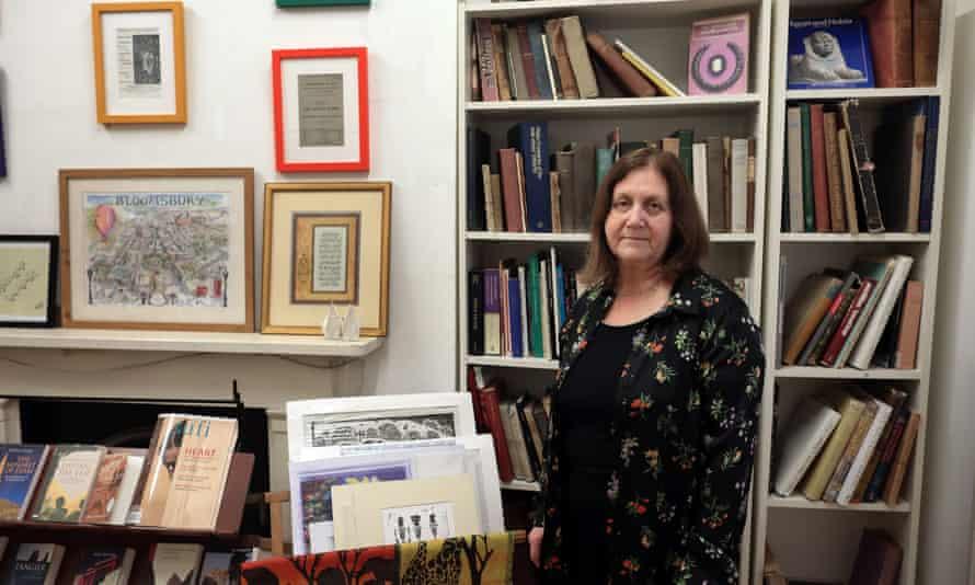 Lesley Sherringham  Arthur Probsthain bookshop in London.