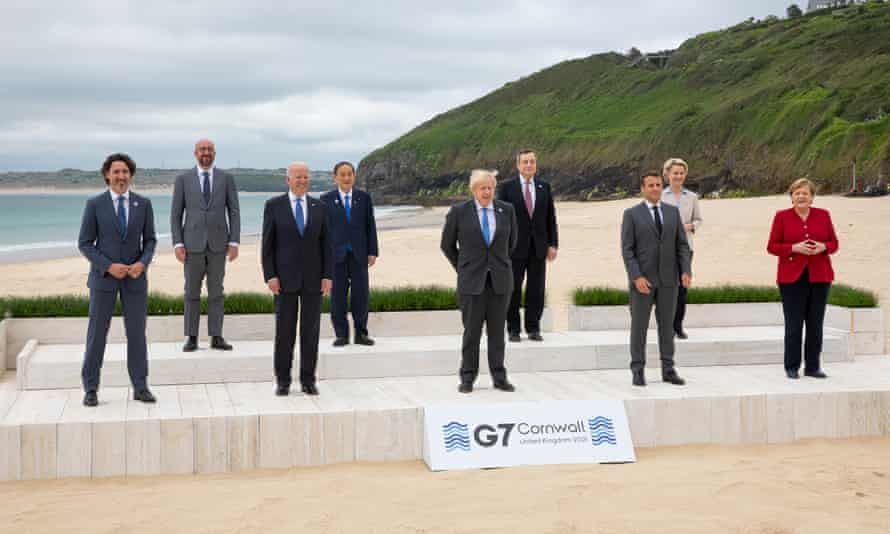 The G7 leaders in Carbis Bay, Cornwall.