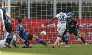 Musa Juwara scores for Bologna at San Siro.