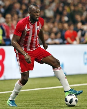Usain Bolt has long expressed a desire to play football at a high level.