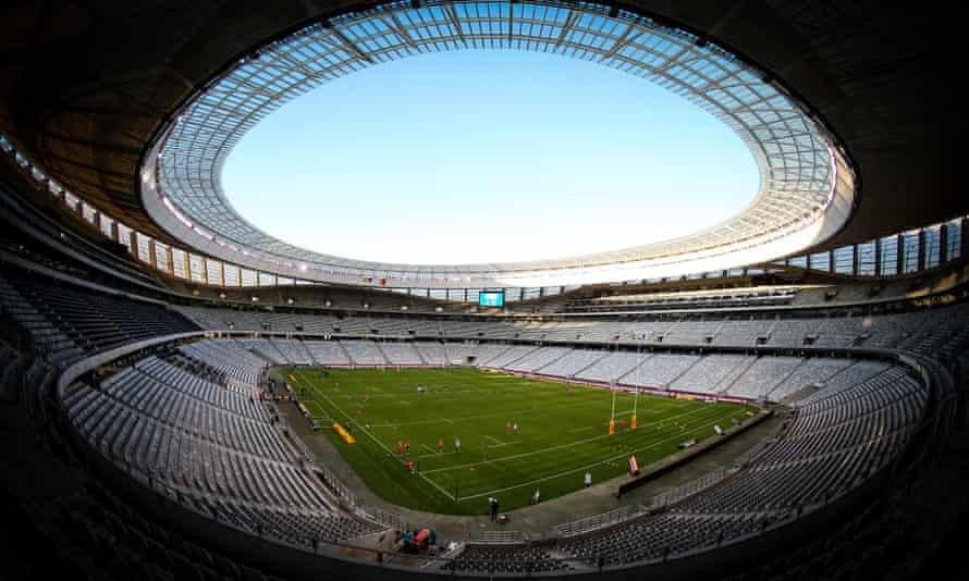 نمایی کلی از استادیوم کیپ تاون ، جایی که سریال Test در برابر Springboks آغاز می شود.