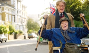 Alex Jennings and Maggie Smith Film in The Lady In The Van