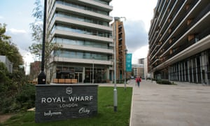 Royal Wharf in Silvertown, east London, where up to 500 tenants will not have access to luxury amenities.
