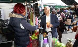 Sadiq Khan in Dalston, Hackney