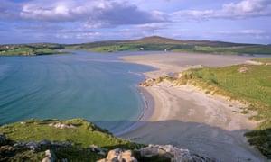A mile of sand: Uig Beach on the Isle of Lewis.