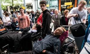 BA customers at Heathrow following the IT meltdown