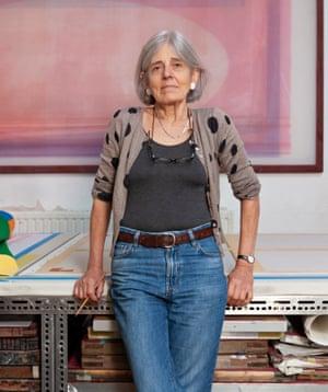 Textile artist Pauline Caulfield.