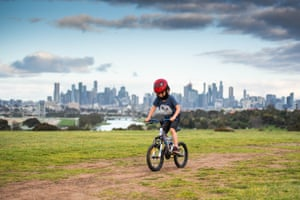 Australia Victoria Covid 19 Lockdown Economy - 31 Aug 2020Mandatory Credit: Photo by Xinhua/REX/Shutterstock (10760849d) A boy rides bicycle in Melbourne, Victoria, Australia, Aug. 31, 2020. A lockdown in the Australian state of Victoria aimed at stopping a COVID-19 outbreak came under scrutiny on Monday, with critics calling for a clearer plan to end the restrictions which are said to be weighing on the nation's economic recovery. Victoria recorded 73 new infections on Monday following a month of Stage 4 lockdowns in capital city Melbourne, down from a peak of over 700 in early August. Australia Victoria Covid 19 Lockdown Economy - 31 Aug 2020