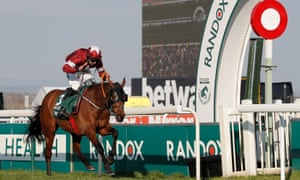 Tiger Roll crosses the line to win the 2019 Grand National