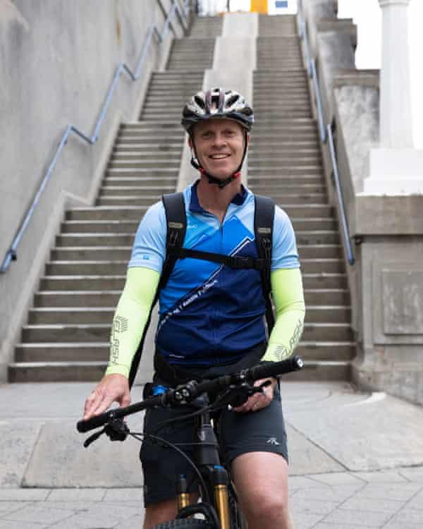 Mosman resident and habitual bridge cyclist Michael Taylor.