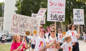 Children protest over schools being forced to close early