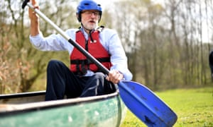 Jeremy Corbyn in a canoe