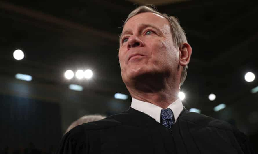 Chief Justice John Roberts at the US Capitol in Washington DC, on 4 February.