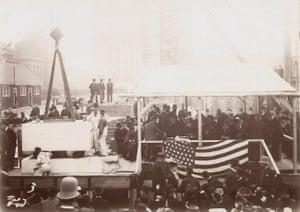 Central building cornerstone ceremony, 1902