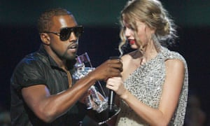 Kanye West and Taylor Swift at MTV Video Music awards in 2009