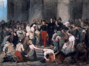 The Duke of Orleans visits the sick at L'Hotel-Dieu during France's cholera epidemic in 1832