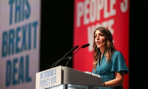 Labour MP Rosena Allin-Khan speaks at the People's Vote Rally in London on 9 December 2018.