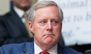Mark Meadows, a Republican from North Carolina, attends the House oversight and reform committee hearing with testimony from Donald Trump's former fixer, Michael Cohen.