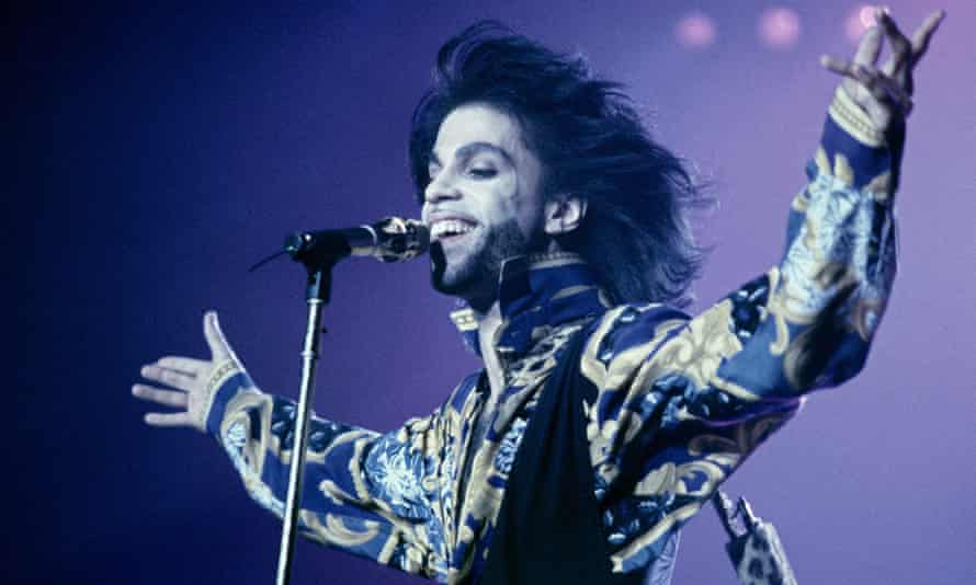 Prince in concert at Wembley, London, in 1990.