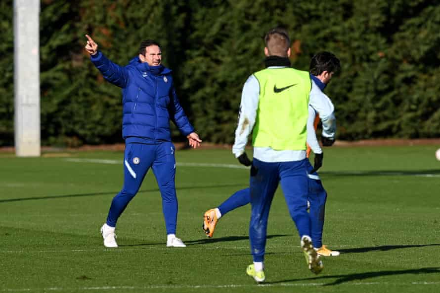 Frank Lampard during Chelsea training on Friday.