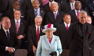 Queen Elizabeth II at the Commonwealth heads of government meeting in Malta in 2015